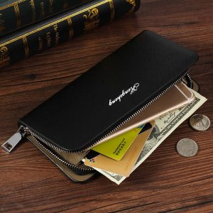 White Zipper credit Cards Holder Businessman Purses Male