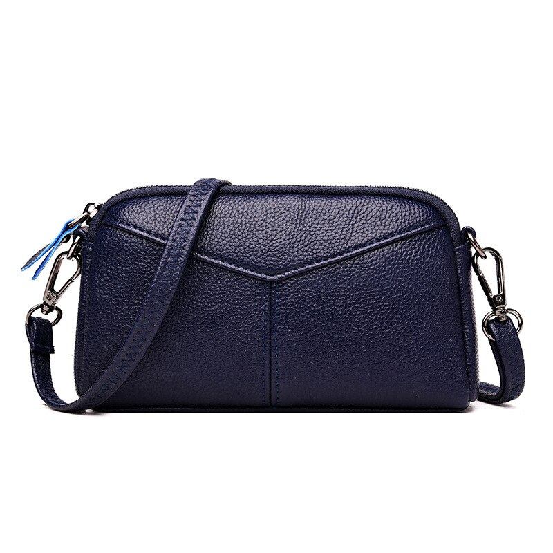 Fashion Patchwork Shoulder Crossbody Bags For Women Clutches Bag Ladies Envelope Bag Women's Genuine Leather Bags