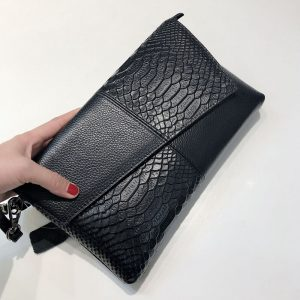 Fashion Women Clutch Bag Elegant Genuine Leather Female Envelope Bag Clutch Evening Bag Female Clutches Ladies Handbag Dropship