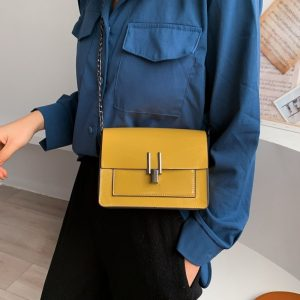 Retro Woman Chain Shoulder Bag Crossbody Bags For Women Tote Bag Summer PU Leather Shoulder Messenger Bag For Girl Shopping