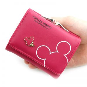Cartoon PU Leather Women Purse Pocket Ladies Clutch Wallet Women Short Card Holder Cute Girls Wallets Handbag Coin Bag