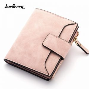 New Women Wallet Hasp Small and Slim Coin Pocket Leather Purse Women Wallets Cards Holders Luxury Brand Wallets Designer Purse