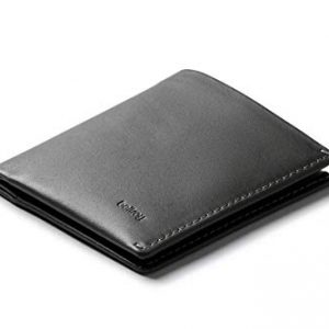Bellroy Note Sleeve Wallet (Slim Leather Bifold Design, RFID Blocking, Holds 4-11 Cards, Coin Pouch, Flat Note Section) - - Charcoal - RFID