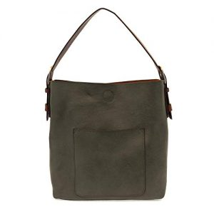 Joy Susan Women's Hobo 2-in-1 Handbag With Brown Handle, Dark Olive/Brown, One-Size