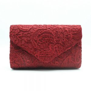 New floral lace embroidered women's clutch bag fashion evening bag Minaudiere portable handbag purse