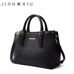 JIANXIU Brand Genuine Leather Handbag Luxury Handbags Women Bags Designer High Quality Cross Texture Tote Female Shoulder Bag