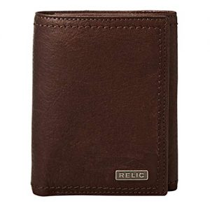 Relic by Fossil Men's Trifold Wallet, Mark Brown