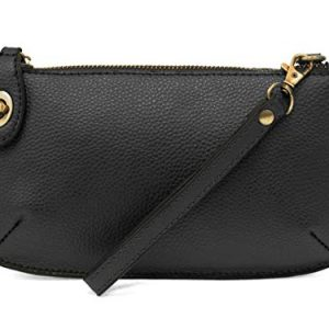 Joy Susan Women's Mini Crossbody Wristlet Clutch, Black, One-Size