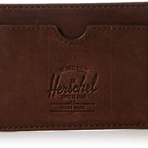 Herschel Charlie Leather RFID, nubuck brown, One Size