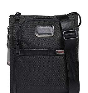 TUMI - Alpha 3 Small Pocket Crossbody Bag - Satchel for Men and Women - Black