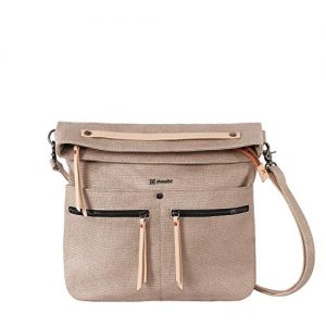 Sherpani Faith 2.0, Fashion Crossbody Bag, Designer Shoulder Bag, Canvas Purses for Women, 7 Inch Tablet Compatibility (Natural)