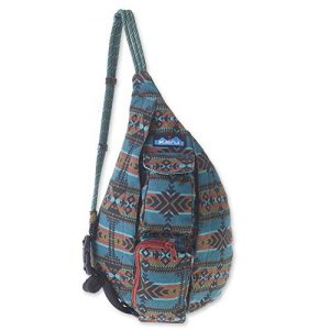 KAVU Mini Rope Bag Cotton Crossbody Sling ​ - Pacific Blanket