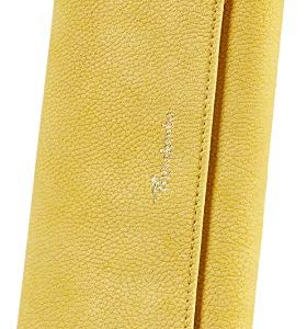 Travelambo Womens Wallet Faux Leather RFID Blocking Purse Credit Card Clutch (Lemon Yellow 310)