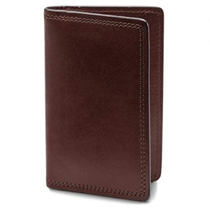Bosca | Men's Calling Card Case Wallet in Dolce Italian Leather
