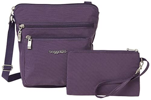 Baggallini Women's Pocket Crossbody With RFID bag, Vintage Violet, One Size