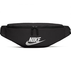 NIKE unisex-adult Heritage Hip Pack Bag , Black/Black/White, Misc