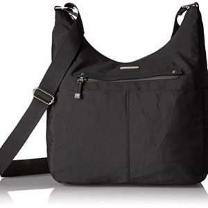 Baggallini All Around Hobo, Black with Sand Lining