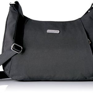 Baggallini Slim Crossbody Hobo, Charcoal