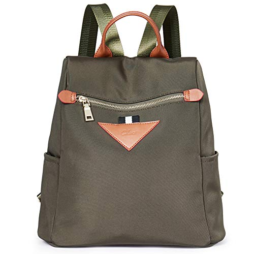 Backpacks Purse for Women Canvas Fashion Travel Ladies Designer Shoulder Bag Green