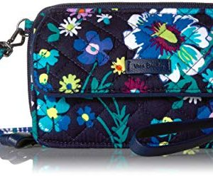 Vera Bradley Women's Signature Cotton RFID All in One Crossbody Wristlet , Moonlight Garden, One Size