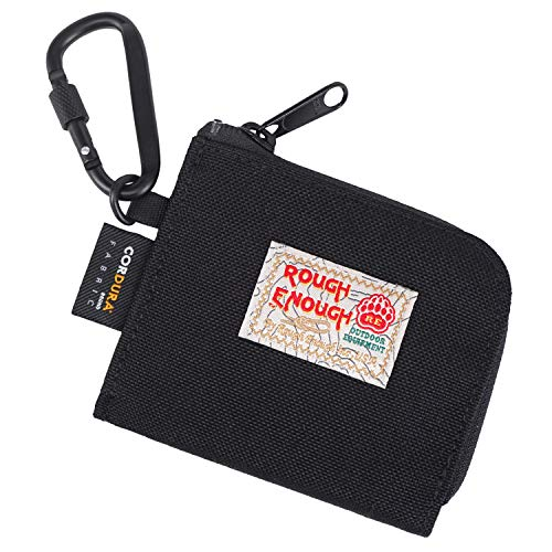 Rough Enough Small Coin Purse Pouch Change Purse for Men Boys Slim Thin Wallet EDC Pouch Credit Card Holder Wallet Organizer with Zipper for Travel School Party Unique Gifts Women Girls