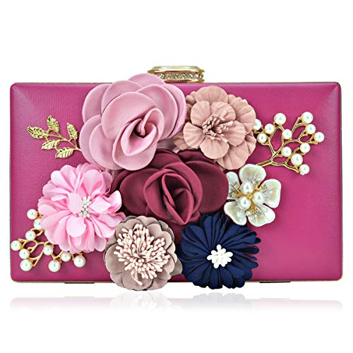 Women Flower Clutches Handbags Evening Bags Prom Party