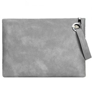 Evening Bags Purse Leather Crossbody Clutch Chain Shoulder Womens Wristlet Handbag Foldover Pouch (gray)