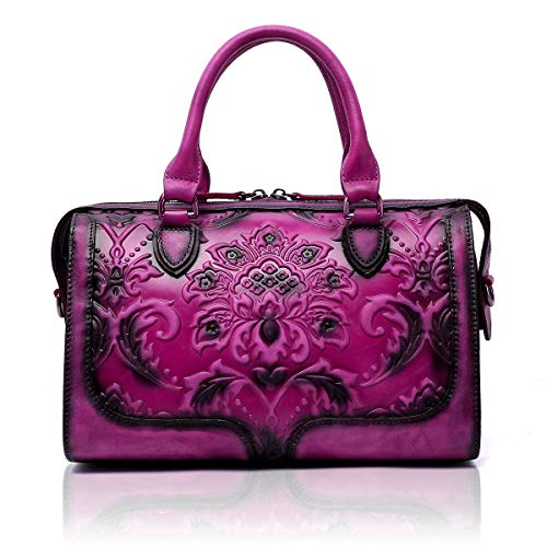 APHISON Womens Purses and Handbags Ladies Designer Satchel Tote Bag Shoulder Bags (FUCHSIA)