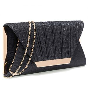Black clutch purses for women evening bags and clutches for women evening bag purses and handbags evening clutch purse(Black)
