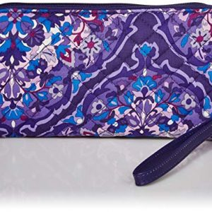 Vera Bradley Women's Signature Cotton RFID Front Zip Wristlet , Regal Rosette, One Size