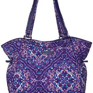 Vera Bradley Signature Cotton Glenna Satchel Purse, Regal Rosette