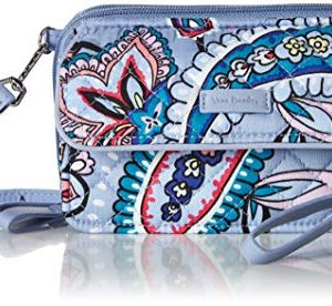 Vera Bradley Women's Signature Cotton RFID All in One Crossbody Wristlet , Makani Paisley, One Size