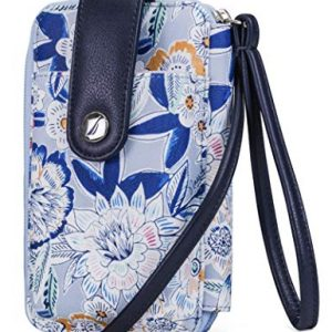 Nautica Caroline Vegan Leather RFID Womens Crossbody Phone Bag Wallet (Tropical Punch)
