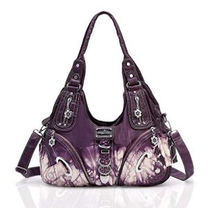 Purses and Handbags for Women Ladies'Shoulder Bag Designer Tie Dye Satchel Fashion Totes for Gril (11282Z purple)