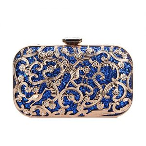 Fawziya Crystal Bird Purse Bling Out Clutch Evening Bags And Clutches For Women-Blue