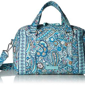 Vera Bradley Women's Signature Cotton 100 Satchel Purse, Daisy Dot Paisley, One Size