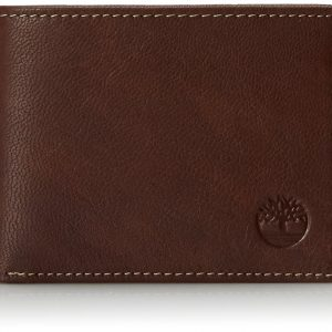 Timberland Men's Blix Slimfold Leather Wallet, Brown, One Size