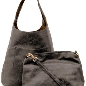 Joy Susan Women's Molly Slouchy Hobo Handbag, Charcoal, One-Size