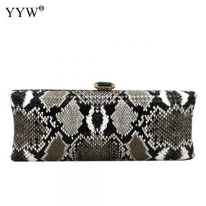 Snakeskin PU Leather Women Clutch Bag Artificial Leather Women Wedding Party Wedding Dinner Evening Handbag Purse Clutches Bags