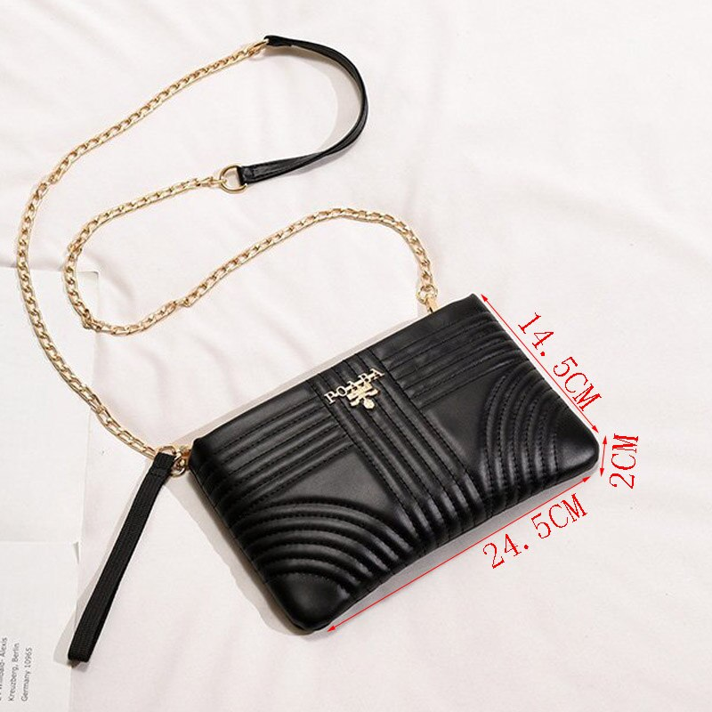 Chain Shoulder Bag High-Quality Leather Tote