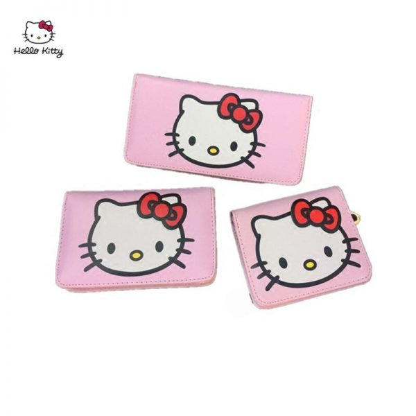 HELLO KITTY Cartoon Fashion Women Long Wallet