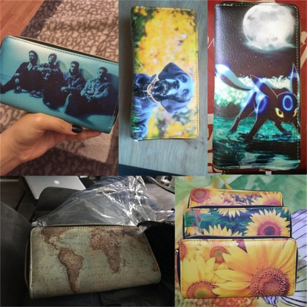 Wallets Funny Sea Turtle Pattern Waterproof Leather