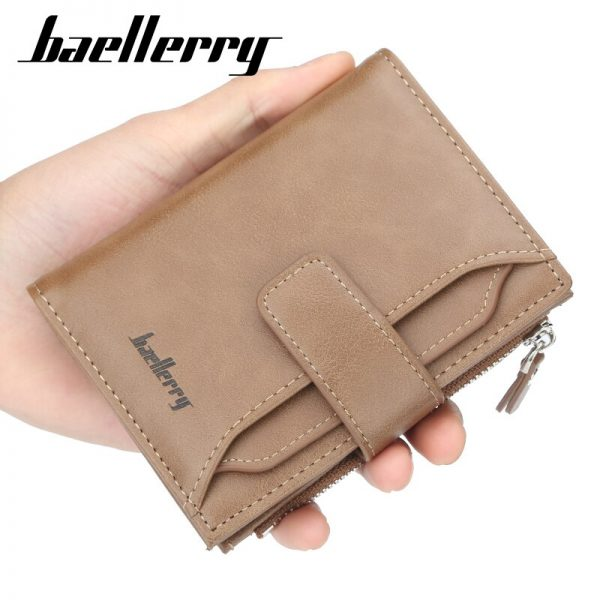 Baellerry Vintage Men Wallet PU Leather Short Wallet