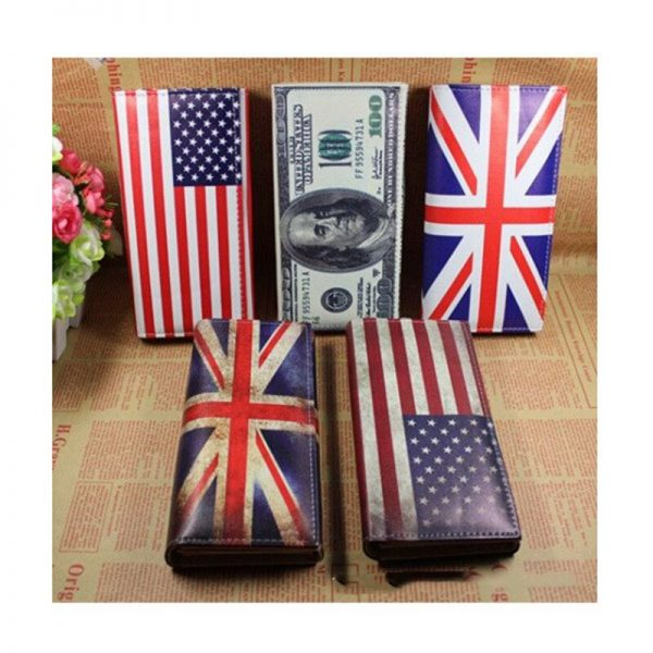 Womens Wallets and Purses Card Case USD UK Flag