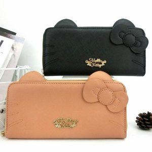 Leather Coin Purse Wallet Hello kitty