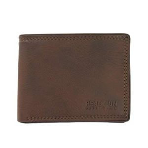Kenneth Cole ERBEN RFID Fixed Mens Wallet, Genuine Leather Passcase in Saddle