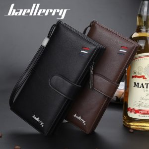 Baellerry Fashion Black Men Wallet Business Phone Leather