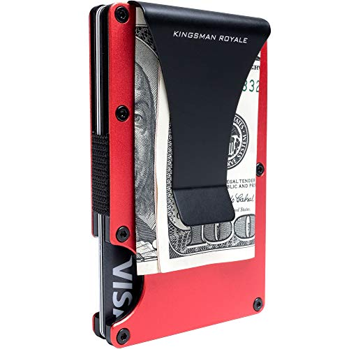 Minimalist Aviation Aluminum Front Pocket Slim RFID Wallet with Money Clip by Kingsman Royale