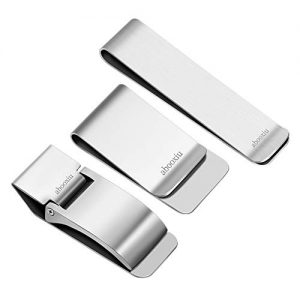 abooxiu Money Clip for Men Women 3 Pack Stainless Steel Minimalist Slim Clip Wallet Credit Card Cash Holder Multi Tool Mirror Clip Christmas Gifts