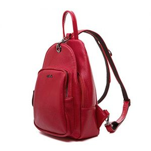 Small Backpack Purse for Women, Backpack Handbags Lightweight PU Nylon Sling Purse with Convertible Shoulder Strap